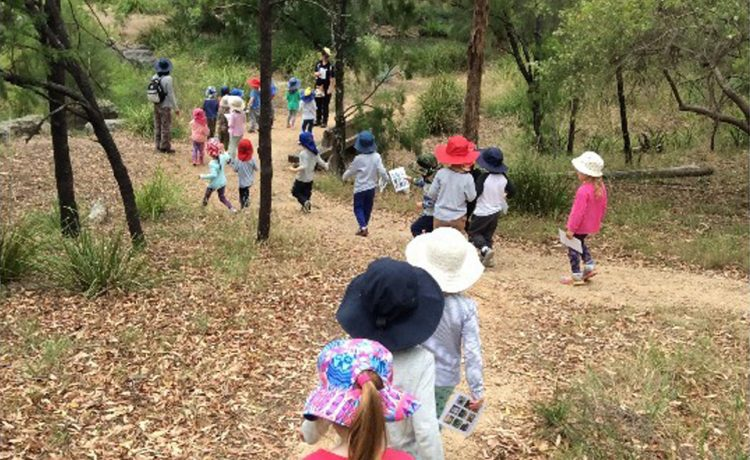 Bush Kinder is a series of nature based kindergarten sessions for the 4YO
